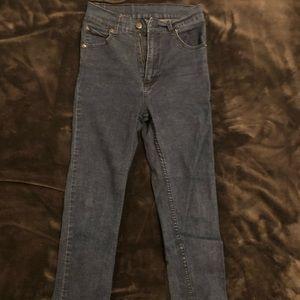Cheap Monday blue jeans.